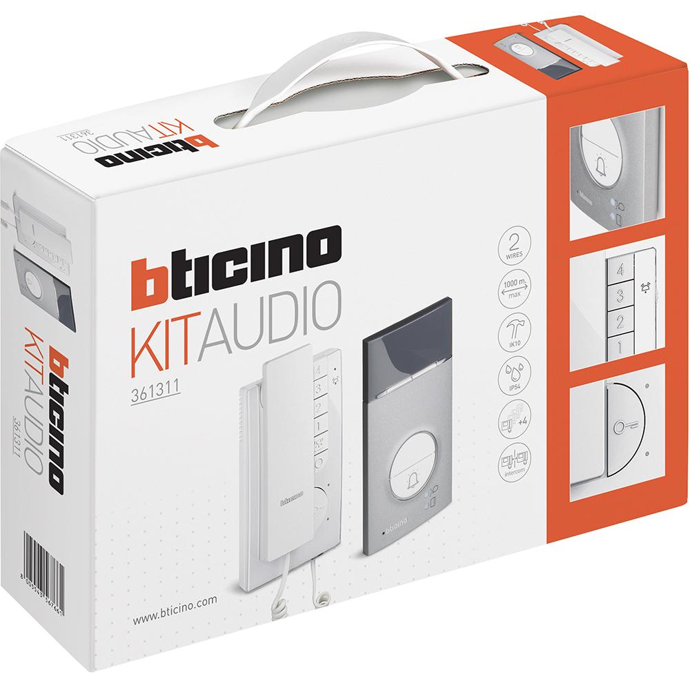 Audio Türsprechanlage SET LINEA 3000 Zamek 1 ou 2 famille participants BTICINO